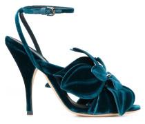 velvet flower sandals