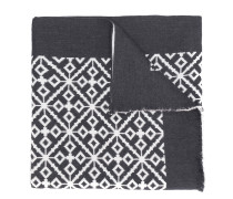 Schal mit Intarsien-Muster