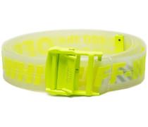 neon yellow transparent rubber belt