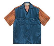 Bowlinghemd im Materialmix