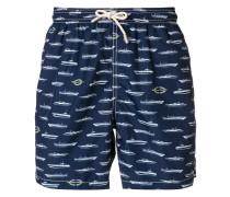 boat pattern swim trunks