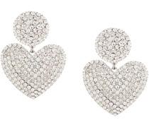 Oversized-Ohrringe mit Herzmotiv