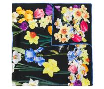 Seidenschal mit buntem Blumen-Print