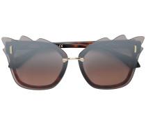 Sonnenbrille mit gewelltem Rand