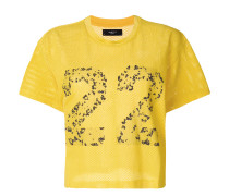 Cropped-T-Shirt mit '22'-Print