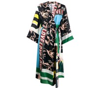 graphic print wrap dress