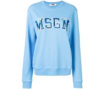 letterman logo sweatshirt