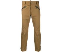 Cropped-Hose mit Reißverschlüssen