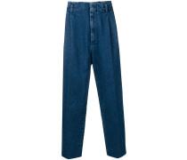 Jeans mit Bundfalten