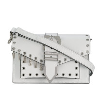 logo charm buckled crossbody