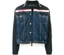 Jeansjacke mit Streifen
