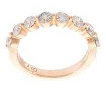 'Floating' Ring mit Diamanten