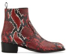 Chelsea-Boots in Schlangenleder-Optik