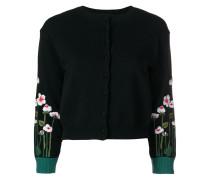 Floraler Intarsien-Cardigan