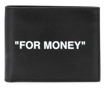 """Portemonnaie mit """"For Money""""-Print"""