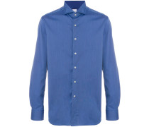 spread collar long sleeve shirt