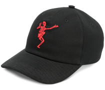 dancing skeleton embroidered cap