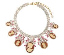 Halskette mit Kristallverzierung