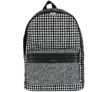 houndstooth print backpack