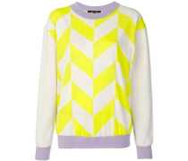 contrast lines sweater