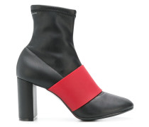 contrast strap boots