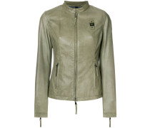 fitted zipped jacket