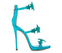 Stiletto-Sandalen mit Sternapplikationen
