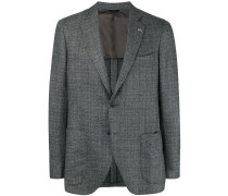 single-breasted tweed blazer