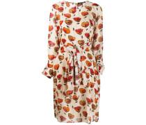 Kleid mit Mohn-Print