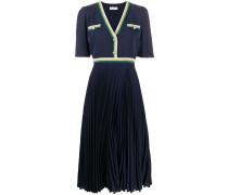 Geknöpftes Kleid mit V-Ausschnitt