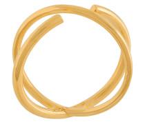 'Twin' Ring aus vergoldetem Silber