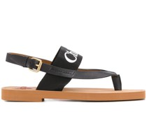 'Woody' Sandalen mit Logo-Riemen