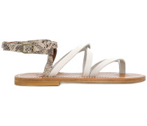 snakeskin effect strappy sandals