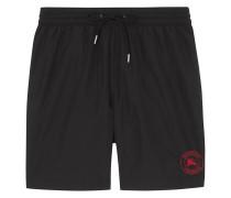Embroidered Logo Drawcord Swim Shorts