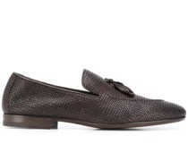 textured trinket loafers