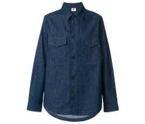 Jeans-Hemdjacke mit Brusttasche