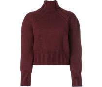zip polo neck sweater