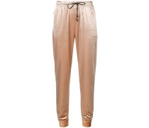 Jogginghose im Metallic-Look