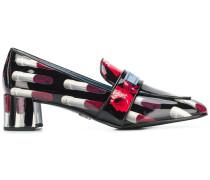 Loafer mit Lippenstift-Print