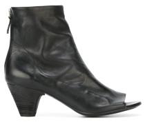 Peeptoe-Stiefel mit Blockabsatz