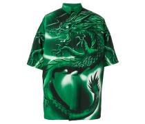 Oversized-Hemd mit Drachen-Print