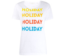 "T-Shirt mit ""Holiday""-Print"