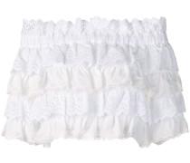 Cropped-Bluse mit Rüschen
