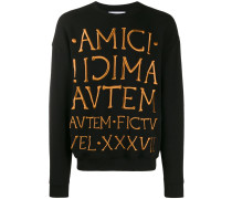 Sweatshirt mit aufgesticktem Logo