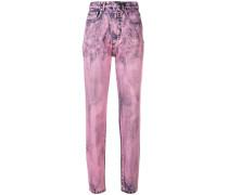 Zweifarbige Skinny-Jeans