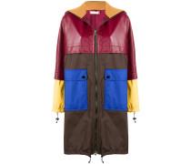 Mantel in Colour-Block-Optik
