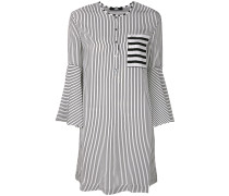 striped bell sleeved dress