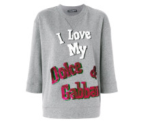 I Love My D&G sequin sweater