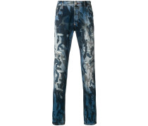 camouflage slim-fit jeans