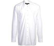 Langes Hemd mit Stehkragen